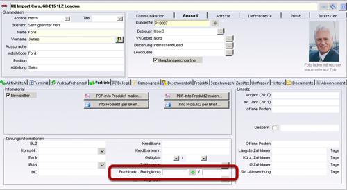 Faktura Software - Ansicht Kontakte
